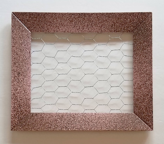 Pink and Brown Chicken Wire Frame Framed Earring Holder   Etsy