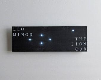 Leo Minor Constellation, Leo Gift, Leo Light, Star Light, Dorm Room Decor, Leo Birthday Gift, Science Gift, Constellation Art, Husband Gift