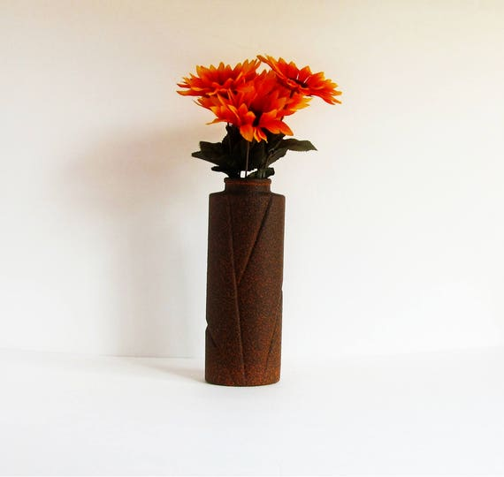 Brown Stone Vase Stone Vase Set Tall Flower Vase Large Etsy