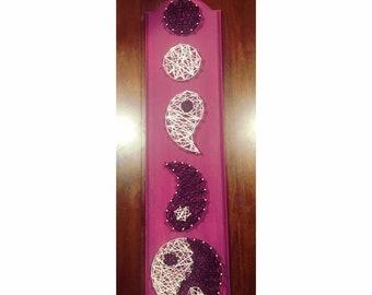 Yin Yang String Art Wood Sign