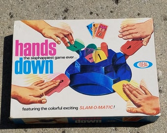 Vintage 1960's Ideal Hands Down Board/Card Game