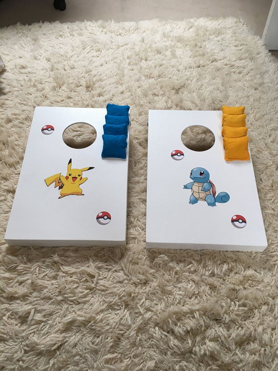 Super Pokemon Cornhole Game Bean Bag Toss Garden Game Birthdays Easter Games Pdpeps Interior Chair Design Pdpepsorg