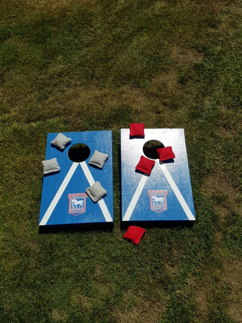 Admirable Ipswich Town F C Cornhole Game Bean Bag Toss Garden Game Pdpeps Interior Chair Design Pdpepsorg