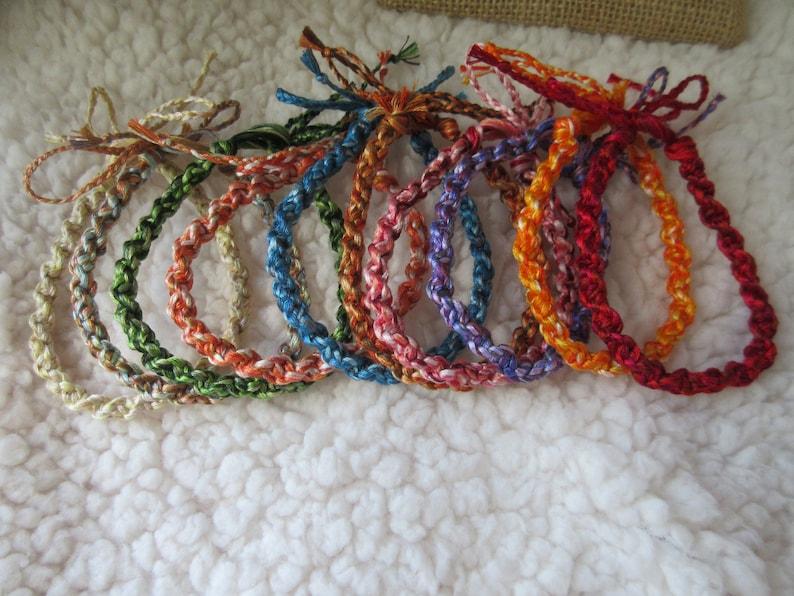 Twisted tie bracelet set