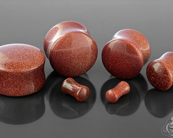"""DF Red Goldstone plugs 6g, 4g, 2g, 0g, 00g (9.5mm), 7/16"""", 1/2"""" (13mm), 9/16"""", 5/8"""", 3/4"""", 7/8"""", and 1"""""""