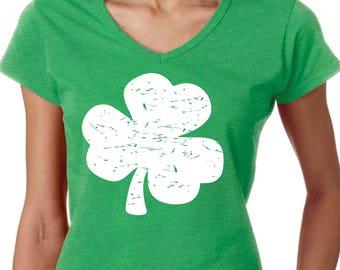 Distressed Shamrock Saint Patricks Day Shirt