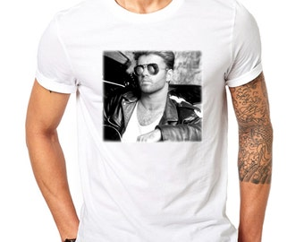George Michael Choose Life T Shirt Wham Band Tshirts Andrew Ridgeley Tees Faith