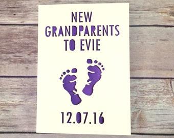 Grandparents Card, New Grandparents, Gran, Grandad Card, New Baby Card, Congratulations On Becoming Grandparents, Grandpa, Grandmother, Nana