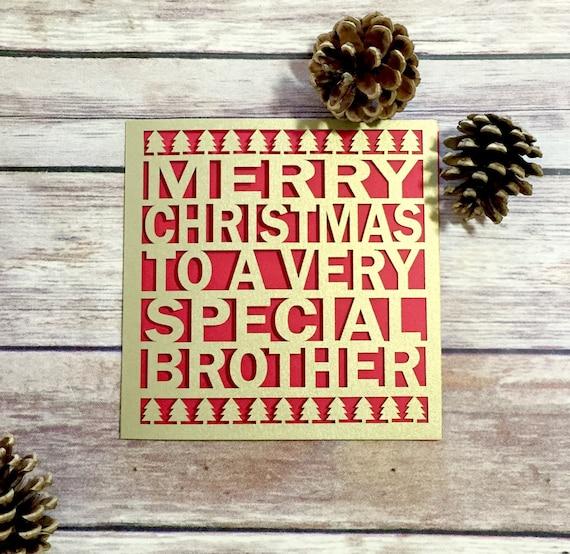 Merry Christmas Brother.Brother Christmas Card Papercut Christmas Card Christmas Card Brother Brother Christmas Gift Special Brother Merry Christmas Brother