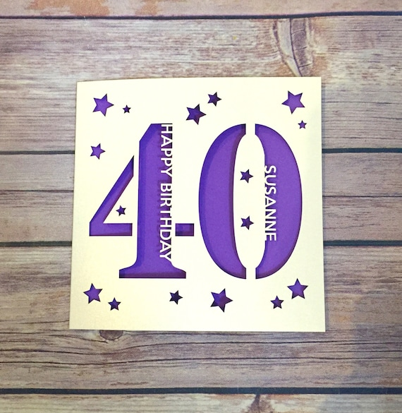 Personalised 40th Birthday Card Daddy Mummy