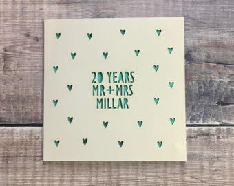 anniversary cards etsy