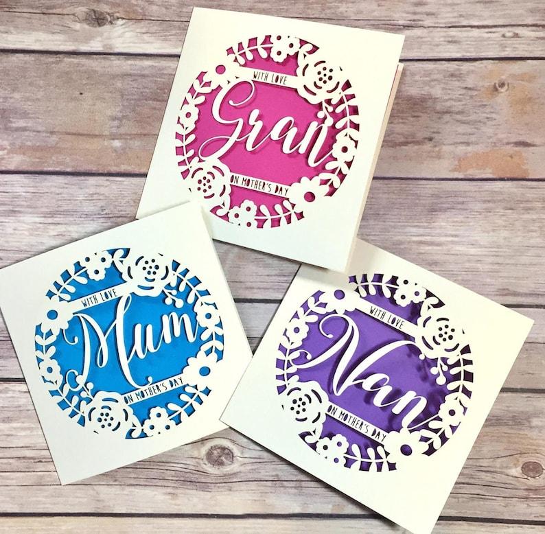 MOTHERS DAY CARD....Mum Granny Nanny etc NEW