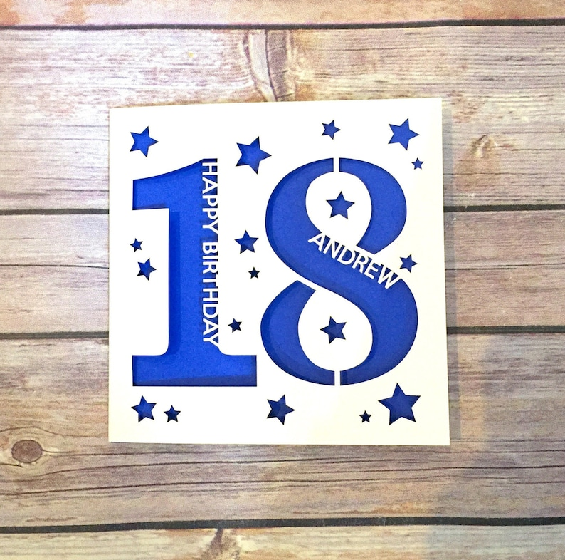 Personalised 18th Birthday Card Daughter Son