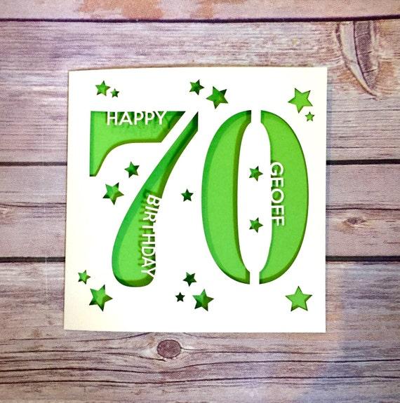Personalised 70th Birthday Card Dad 70th Card Mum 70th Card Etsy