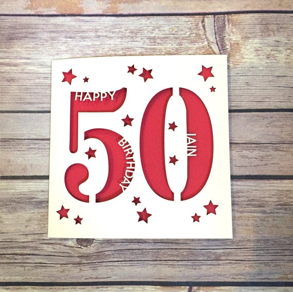 Personalised 50th Birthday Card Daddy Mummy