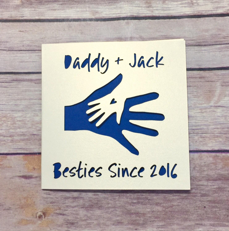 Personalisierte Karte zum Vatertag 1. Vatertag friends   Etsy