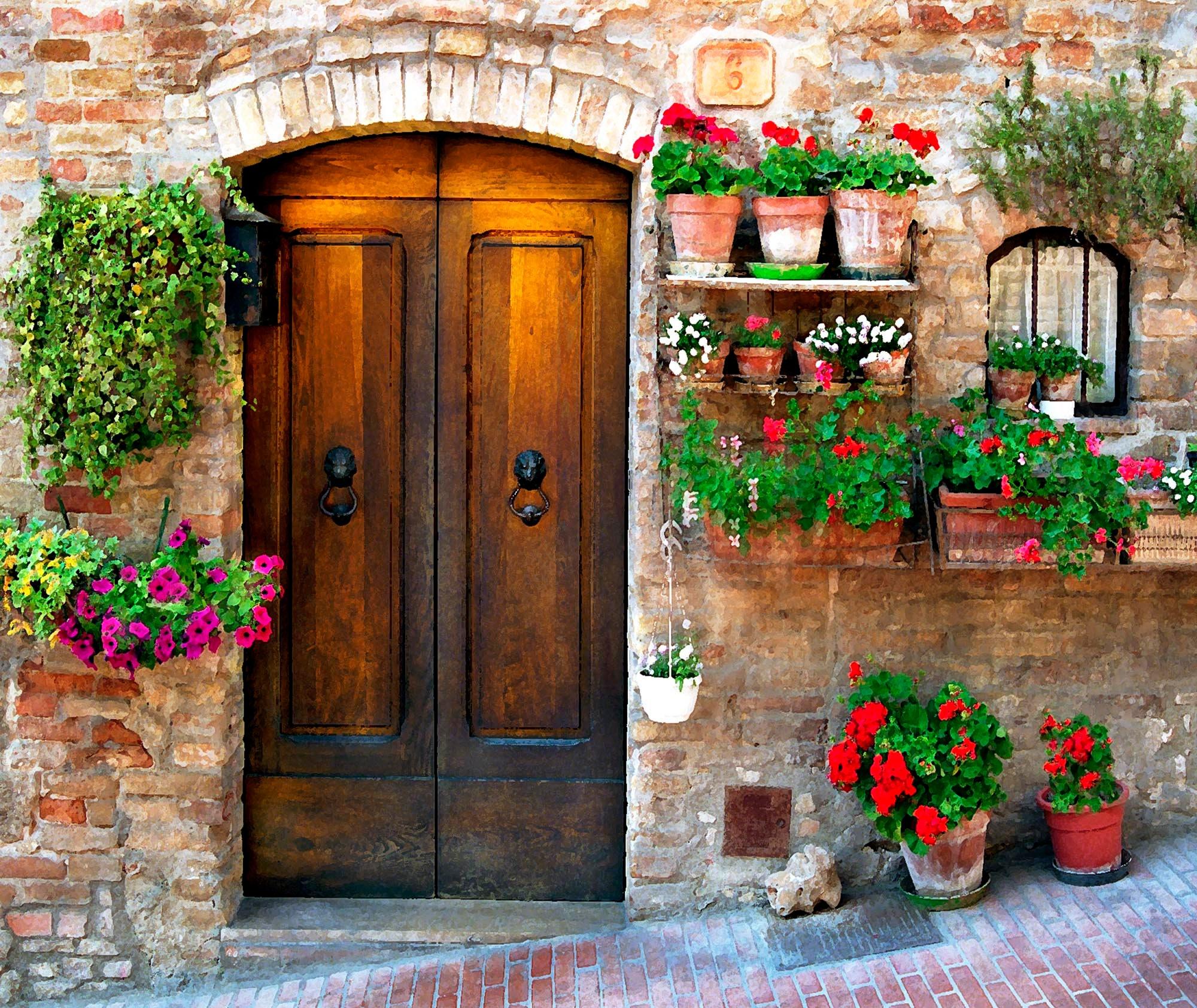 Decorative art,wall decor Italian village San Gimignano Art photography Tuscany Italy print. Wall art FREE SHIPPING- Canada-US trave