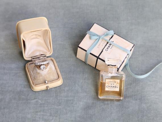 Antique Ring Box Engagement or Wedding Ring Box Vintage Ring Box Rectangular