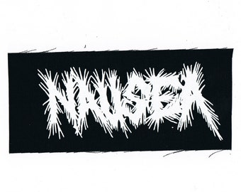 Nausea Band Logo Patch Crust Punk Thrash Metal Patches