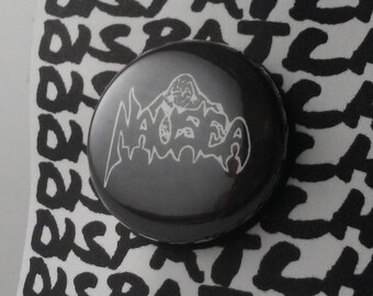 Nausea Grindcore Button