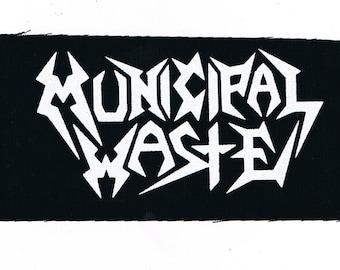 Municipal Waste Thrash Metal Band Patch