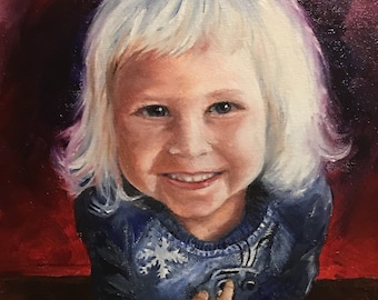 Family,friends,kids portraits. Perfect gift.Acrylic and oil paintings ,