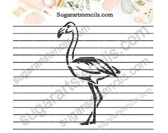 Flamingo cookie stencil tropical summer vacation NB700429
