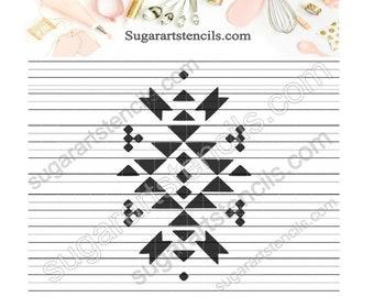 Aztec Navajo tribal cookie stencil Native American pattern NB300197