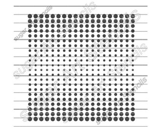 Polka Dot Comic Book Style Pop Art Cookie Stencil Background NB700148