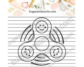 Hand spinner fidget PYO cookie Stencil Paint Your own NB900532