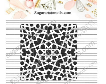 Stencil for cookies Moroccan mosaic lattice NB300159