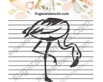 Flamingo cookie stencil tropical summer vacation NB700428
