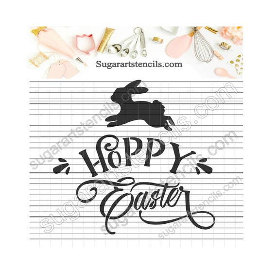 Hoppy Easter mots pochoir cookie NB900580
