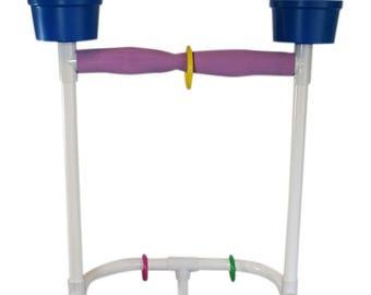 Parrot bird Floor Stand w/cups