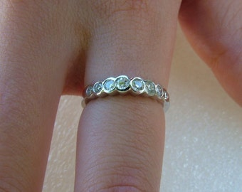 white gold and diamond eternity ring-white gold and diamond wedding band-18 carat white and gold diamond band