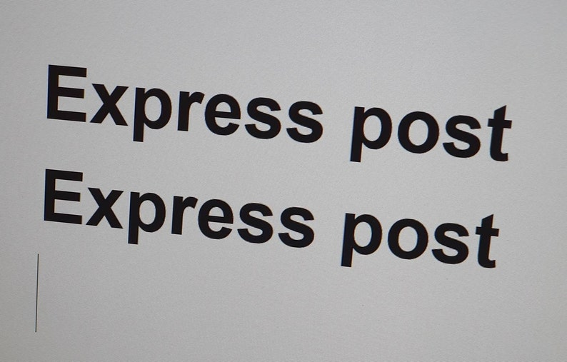 Express Post fee-Express post fee