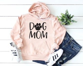 Bella + Canvas Dog Mom Hoodie  a6b3e416c7c7