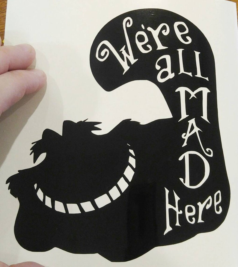 Alice In Wonderland Cheshire Cat Were all mad here Car