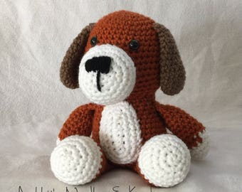 Stuffed Puppy, Crochet Animal, Crochet Dog Stuffed Animal, Plush Dog, Crochet Puppy, Stuffed Dog, Puppy Plush, Dog Plush, Toy Dog, Toy Puppy