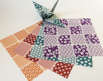 Origami-Papier-Blätter - Japanisch entwerfen Muster - 36 Blätter