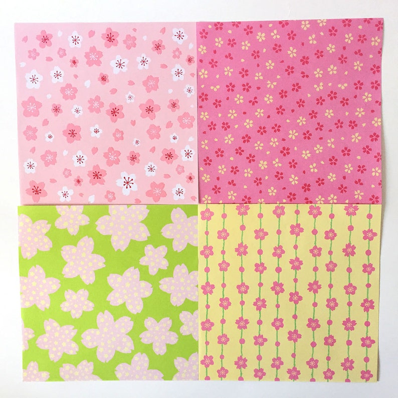 Origami Paper Sheets 36 sheets Sakura Pattern Design Paper