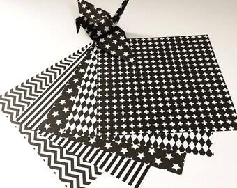 Origami Papier Blatt - Monotone Design-Muster - 100 Blatt
