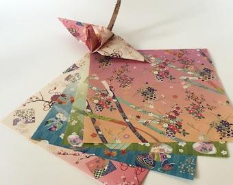 Origami Papier Blatt - japanische Muster - 24 Blatt
