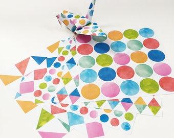 Origami-Papier Blatt - Aquarell Muster - 100 Blatt