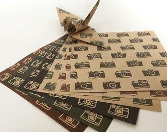 Origami Papier Blatt - Kraft Kamera Papiermuster - 36 Blätter