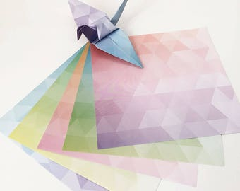 Origami Papier Blatt - Pastell Urokomon Design-Muster - 100 Blatt