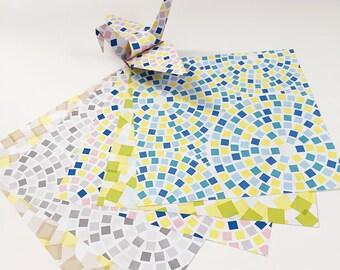 Origami-Papier Blatt - Kopfsteinpflaster Muster - 100 Blatt