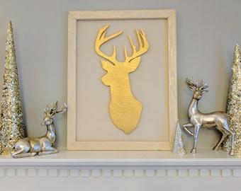 CLEARANCE!!  Framed Deer Sign