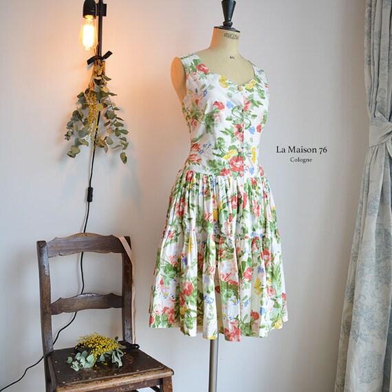 Vintage Flowered Summer dress