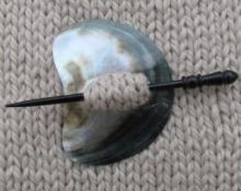 Mountain Shell Shawl Pin - Sale - Reduced 25%